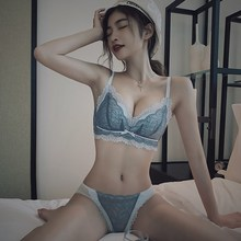Ensemble Lingerie Lace Wireless Brassiere Underwear Women Set Push Up Bra And Panty Set Women #8217 s Intimates Underwear amp Sleepwears cheap Wheatland Star CN(Origin) Cotton Polyester Spandex Three Quarters(3 4 Cup) Back Closure Three Hook-and-eye Floral Adjusted-straps