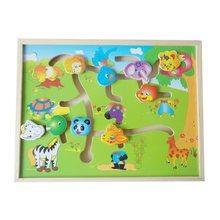 Ev okulları malzemeleri eğitim öğretici oyuncaklar çocuklar çocuklar için slayt yap-boz ahşap bebek oyuncakları hayvan vücut maç yapboz oyunları