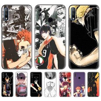 Перейти на Алиэкспресс и купить Haikyuu волейбол аниме чехол для huawei Honor 9X Pro 8X Play 3 3e 20 10 8C 8A Y6 Y7 Y9 Prime 2019 Черный силиконовый чехол для телефона Ca