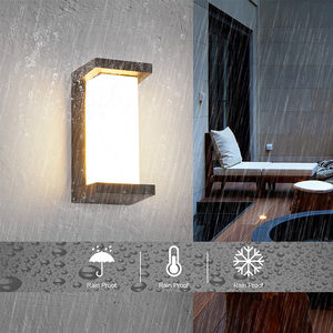 Image 3 - 18W HA CONDOTTO LA Luce Parete Impermeabile IP66 Portico Luce Moderna Lampada Da Parete A LED Del Radar del Sensore di Movimento del Cortile Con Giardino Luce Esterna ZBW0001