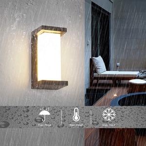 Image 3 - 18W LED Wall Light Waterproof IP66 Porch Light Modern LED Wall Lamp Radar Motion Sensor Courtyard Garden Outdoor Light ZBW0001