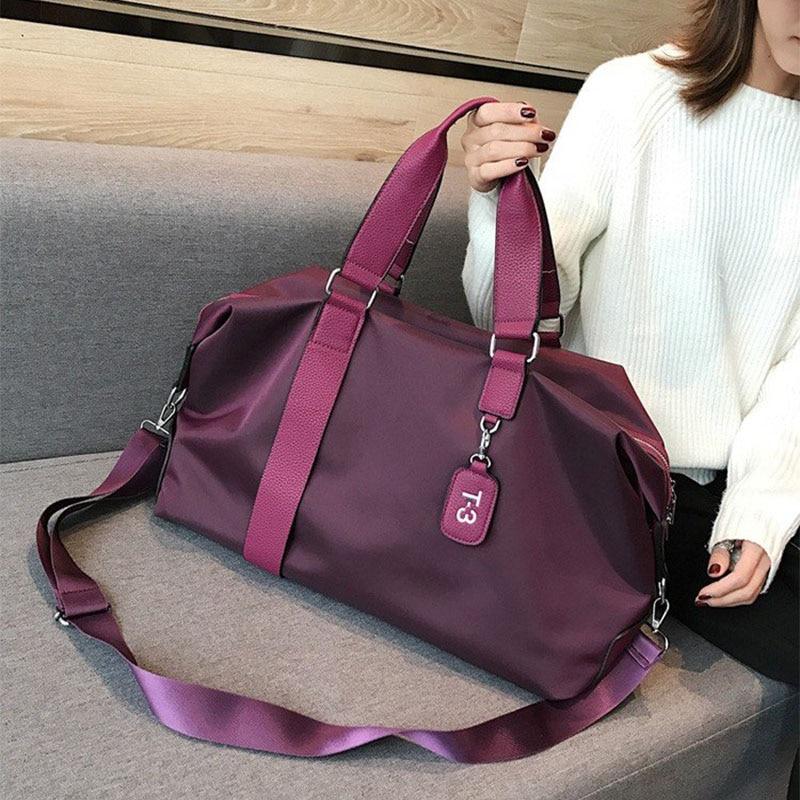 Women Storage Training Adjustable Strap Dry Wet Separated Waterproof Outdoor Travel Handbag Nylon Sports Yoga Gym Bag Duffel Bag