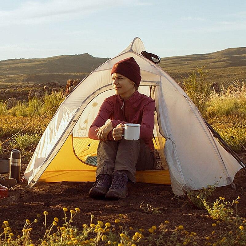 Naturehike Cloud UP 2 Сверхлегкая палатка 10D нейлоновая силиконовая портативная Самостоятельная палатка с бесплатным ковриком для походов на открытом воздухе - 6