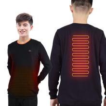 Интеллектуальный нагревательный свитер USB электрическая толстовка теплая куртка из углеродного волокна с подогревом для мужчин и женщин