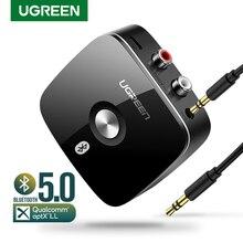 Ugreen Bluetooth RCA Đầu Thu 5.0 AptX LL 3.5Mm Jack Cắm Aux Không Dây Âm Nhạc Dành Cho Truyền Hình Xe RCA Bluetooth 5.0 3.5 Thiết Bị Thu Âm Thanh