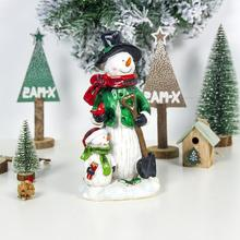 Christmas Painted Resin Crafts Snowman DIY Ornaments for Home Decoration Navidad 2020 New Year Supplies