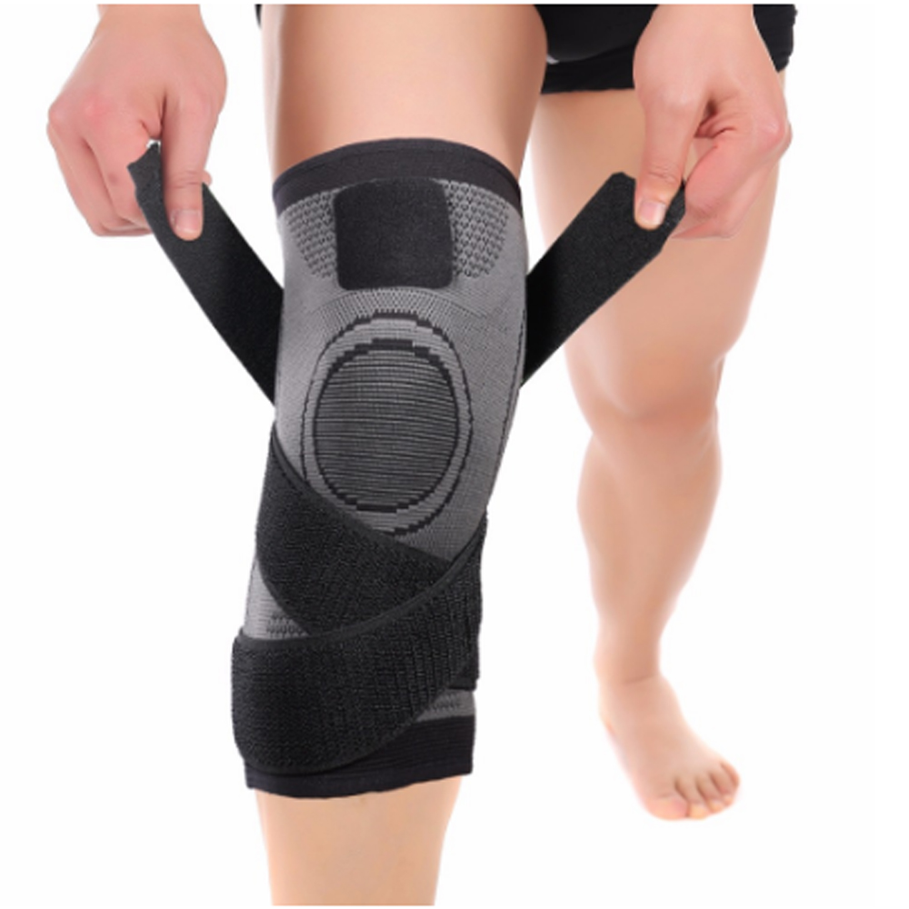 Knee Wrap Sleeve Support Bandag Compression For Weight Lifting Knee Support Pads Brace Kneepad Gym Straps Guard Knee Sleeve