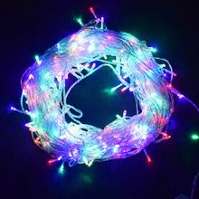 10 м, 20 м, 30 м, 50 м, 100 м, светодиодная гирлянда, сказочные огни, праздничное, свадебное, Рождественское украшение, водонепроницаемая светодиодная гирлянда, AC 220 В, штепсельная вилка европейского стандарта