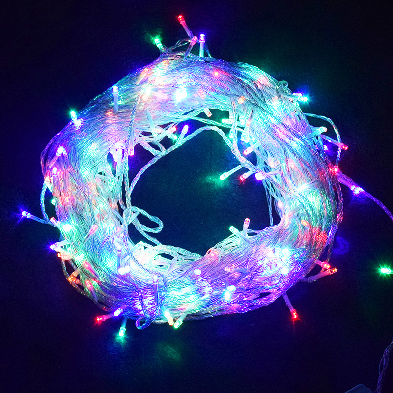 10M 20M 30M 50M 100M LED String Fairy Lights Holiday Wedding Christmas Decoration Waterproof Led Garland AC 220V EU Plug