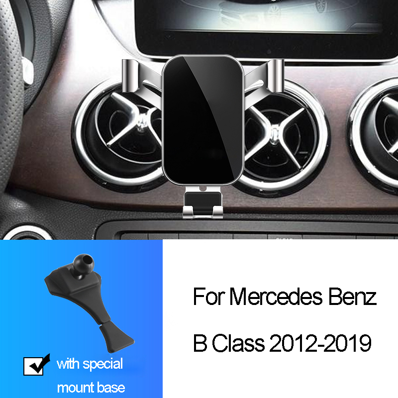 Car Phone Holder For <font><b>Mercedes</b></font> Benz B Class <font><b>W246</b></font> W242 <font><b>B180</b></font> B200 B250 2012-2019 Air outlet Snap-type Gravity GPS Bracket Stand image