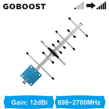 GOBOOST Full Band 698 2700 MHz 4g Yagi Antenna For GSM 2g 3g 4g Cell Phone Siganal Booster outdoor Antenna
