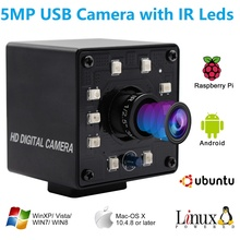 ELP USB 2.0 كاميرا HD 5MP OTG UVC التوصيل لعب صغيرة للرؤية الليلية الأشعة تحت الحمراء قطع USB كاميرا ويب كاميرا أندرويد لينكس ويندوز