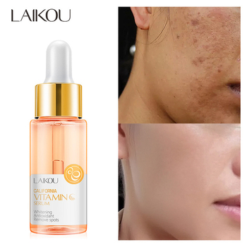 LAIKOU Vitamin C Face Serum Hyaluronic Acid Moisturizing Acne Removal Essence Whitening Anti-aging Anti-wrinkle Face Care lanbena face cream skin care vitamin c serum whitening cream hyaluronic acid moisturizing anti wrinkle anti aging acne treatment