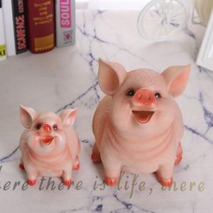 Coin Storage Box Cartoon Pig Shape Piggy Bank Money Box Children'S Toys Birthday Gift Home Decoration