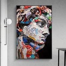 Дэвид граффити настенные картины художественные плакаты и принты