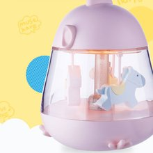 Led Rotated Trojan Cartoon Music Night Light Home Bedroom Decoration Lights Creative Atmosphere For Children