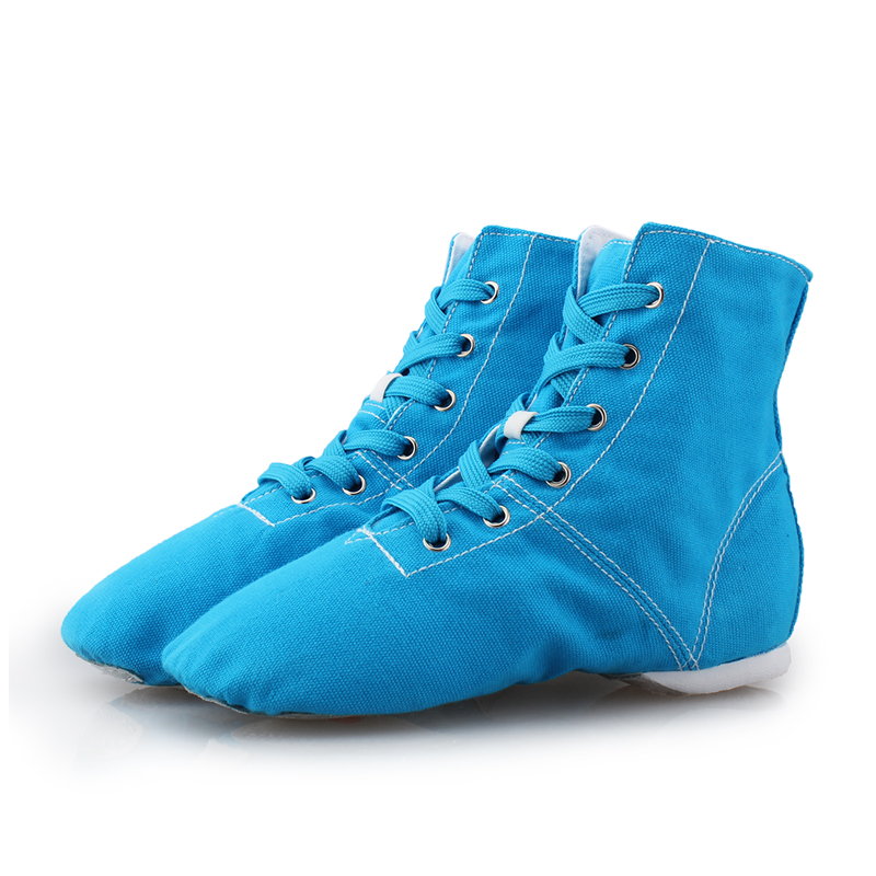 New Dancing Shoes Jazz Sneakers Lace Up Men Women Sports Pleated Dancing Boots