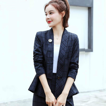 2020 New Fashion Spring Autumn Professional Women Suit Temperament Slim Formal Work Interview