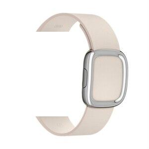 Image 4 - Lederen Band Voor Apple Horloge Band 4 5 44Mm 40Mm Moderne Gesp Bands Voor Iwatch Serie 3 2 1 Band 42Mm 38Mm
