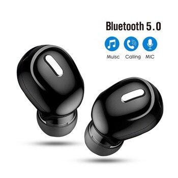 Мини-вкладыши 5,0 Bluetooth наушники HiFi Беспроводная гарнитура с микрофоном Спортивные н