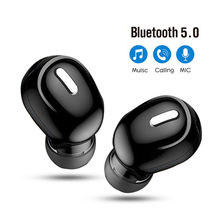 Mini In-Ear 5.0 Bluetooth fone de ouvido HiFi Wireless Headset Com Mic Sports auriculares Handsfree Stereo Som Fones de ouvido para todos os telefones(China)