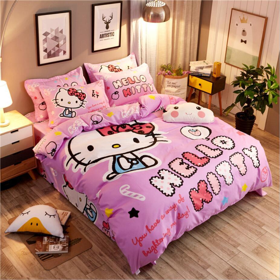 Ensemble de literie coton joli dessin animé | Spongebob couleurs de ponçage, 4 pièces/3 pièces, housse de couette, ensembles de draps de lit, ensemble taie d'oreiller - 5