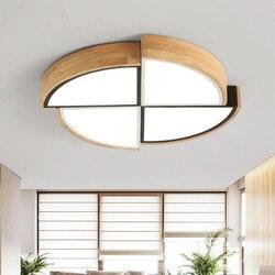 Nowy nabytek doprowadziły lampy sufitowe z drewnianą ramą dla lampa do salonu sufitu pokoje światła okrągłe oświetlenie sypialni