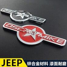 1pcs 3D metal World War II OSCARMIKE car stickers emblem Badge styling for Jeep Renegade Compass Patriot Cherokee Wrangler