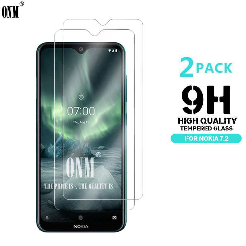 2Pcs Tempered Glass For NOKIA 7.2 6.2 4.2 3 V 3.1 C 3.1 A 2.2 3.2 4.2 Screen Protector 9H Tempered Glass For Nokia 1 Plus X71-in Phone Screen Protectors from Cellphones & Telecommunications