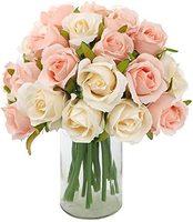 24 cabezas Artificial ramo de flores de color rosa de seda flor rosa roja para boda o casa boda bebé ducha partido decoración del Festival