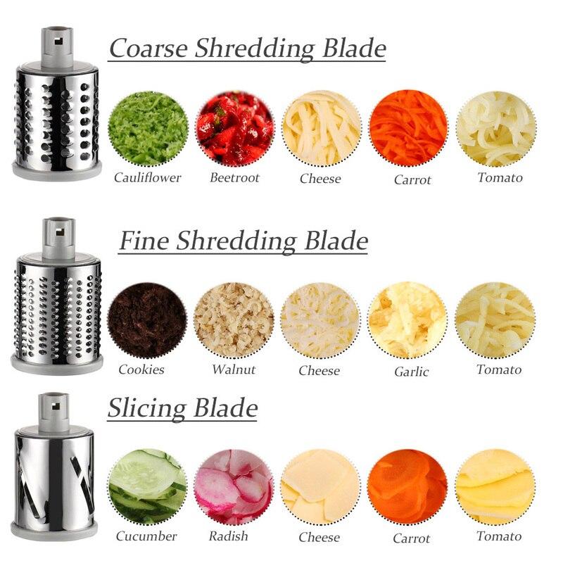Image 3 - 2020 3 in 1 Vegetable Mandoline Slicer Swift Rotary Drum Grater Nut Shredder Veggie Cutter Peeler Spiralizer Cheese ChopperGraters   -
