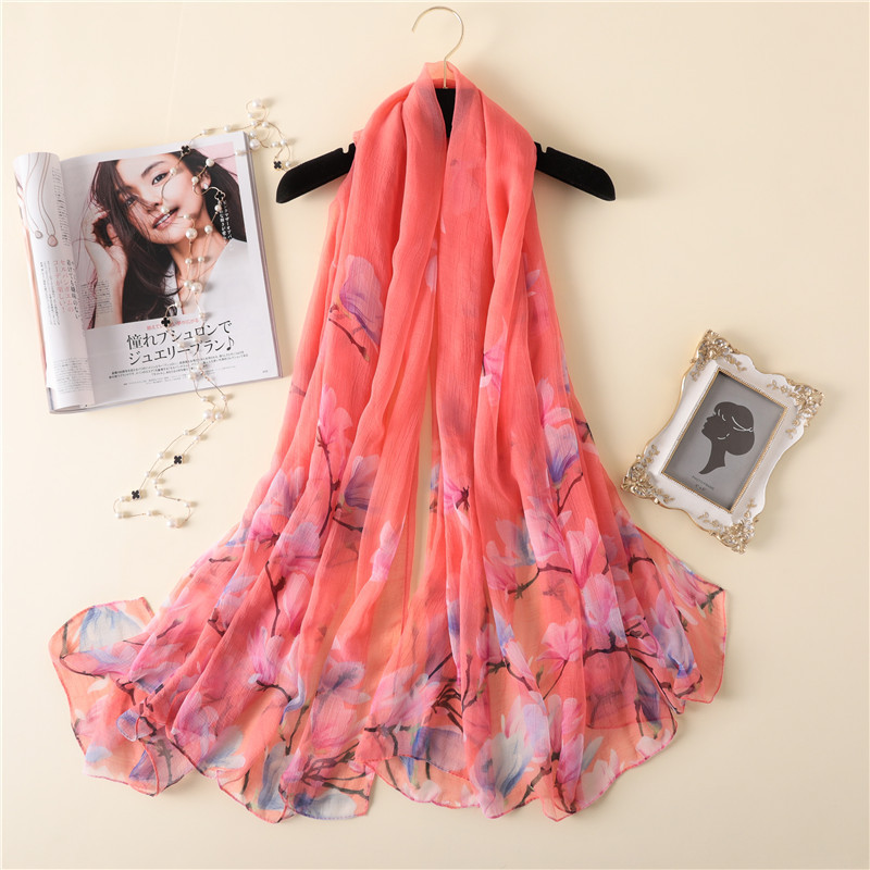Hot Sale Women Scarf Pashmina Scarves Print Beach Stoles Shawls Wraps