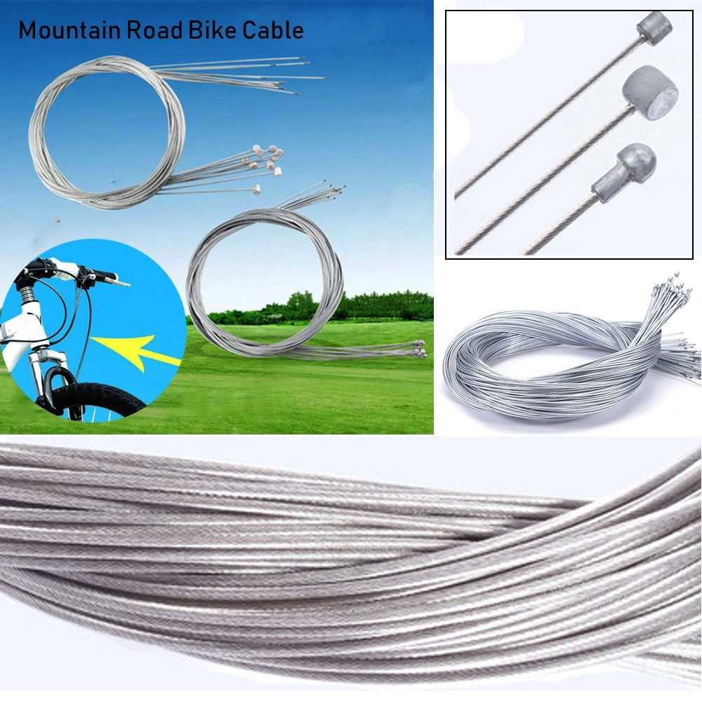 Bike Fixed Gear Shifter/Brake Line Shift Gear Cable Core Inner Wire MTB Mountain Road Stainless Steel/Zinc Derailleur Speed Line