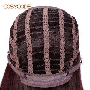 Image 3 - Cosycode 99j peruca cosplay com franja 22 polegada longa peruca reta para mulher não laço peruca sintética traje resistente ao calor