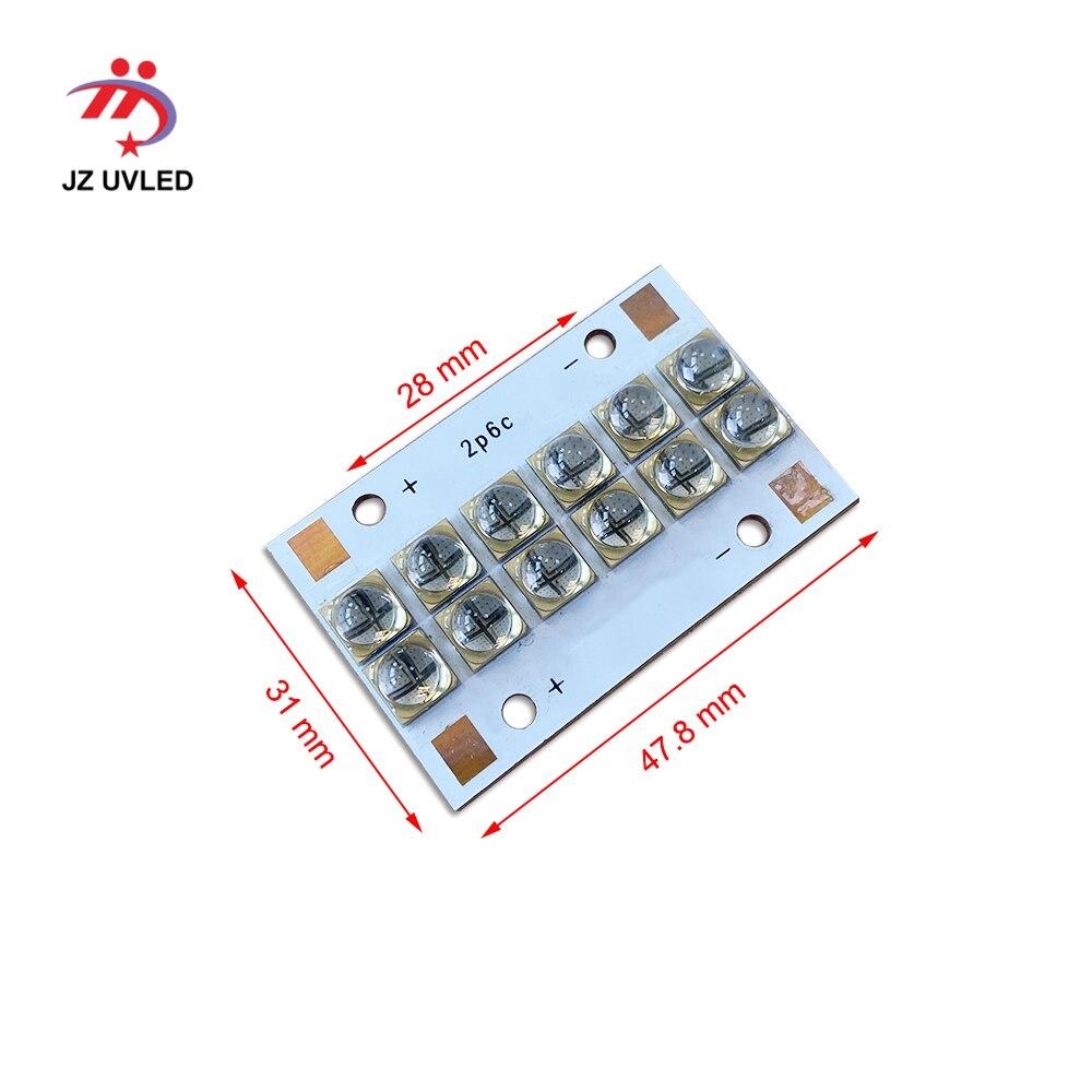 Módulo para Ultravioleta UV LED gel de cura de tinta luz LongRun impressora plana UV cura quartzo 405 nm 365 nm 6565 chip Lâmpada UV talão - 2