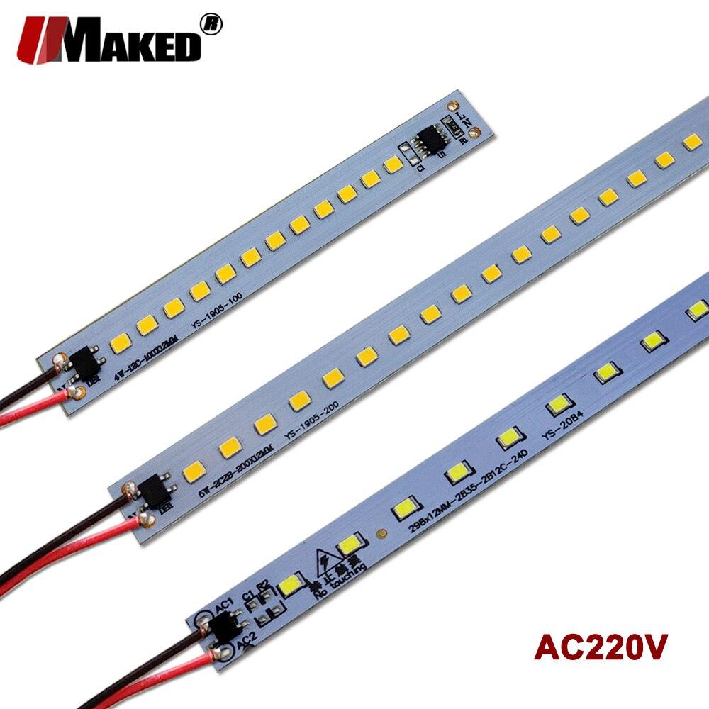 X5 X10 X20Pcs LED Bar Light AC220V 10cm 20cm 30cm 50cm SMD2385 Warm Natural Cold White Kitchen Under Cabinet LED Strip Bar Light