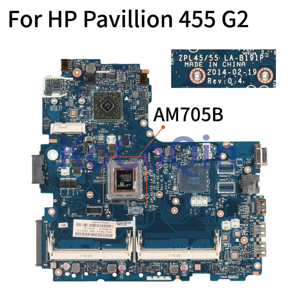 KoCoQin ZPL45/55 LA-B191P Laptop <font><b>motherboard</b></font> For <font><b>HP</b></font> Pavillion 445 <font><b>455</b></font> G2 AM705B Mainboard DDR3 image