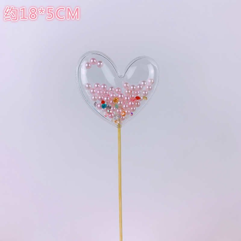 Transparent Topper Star Love Crown Cloud Shiny Cake Topper for Birthday Baby Shower Decoration Marine Animal Theme Party Supply in Cake Decorating Supplies from Home Garden