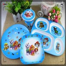 Paw Patrol миска, блюдо, тарелка, мультфильм рисунок Шесть Один Детский сад собака патруль команда посуда чашка миска ложка набор