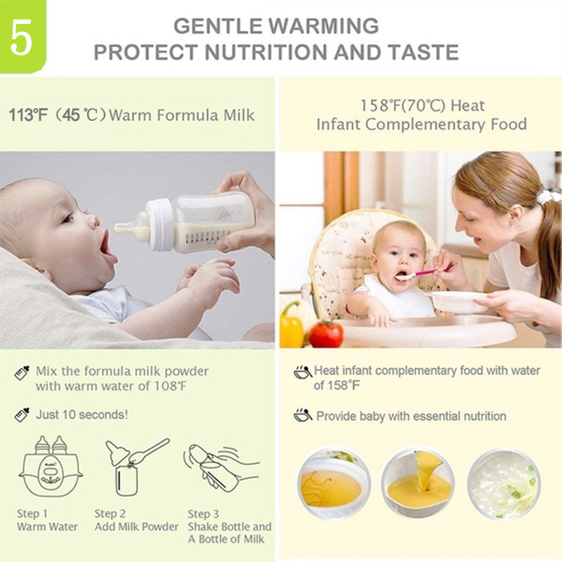 Multi-function 6 in 1 Baby Bottle Warmers Automatic Intelligent Thermostat Milk Bottle Disinfection Fast Warm Milk & Sterilizers