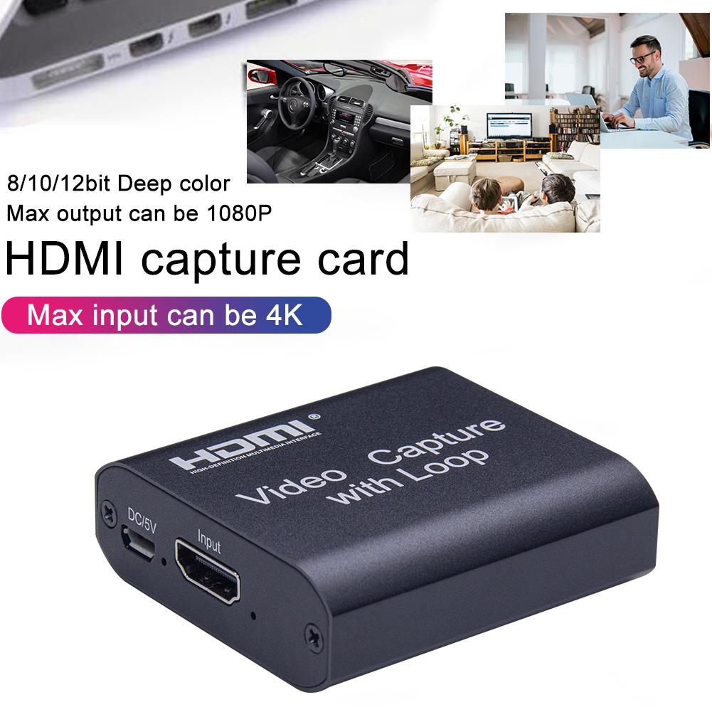 4K Graphics Capture Card HDMI To USB 3.0 Placa De Video Recorder Box For Live Streaming Video Recording Hdmi Digital Converter