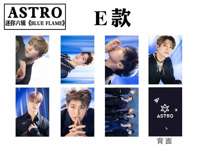 7 sztuk/zestaw Kpop ASTRO Photocard album niebieski płomień self-made dwustronne HD zdjęcie lomo karty nowości kpop ASTRO hurtownie
