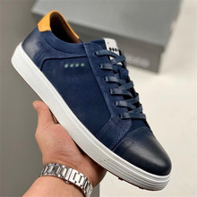 New Men Golf Shoes Casual Sports Sneakers Genuine Leather Outdoor Male Walking Shoe Brown Blue Eu 39-44