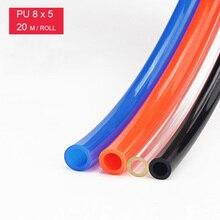 PU8*5 Free Shipping 20M  PU Hose for compressor hose pneumatic air hose for air compressor ID 5mm OD 8mm Air hose PU tube