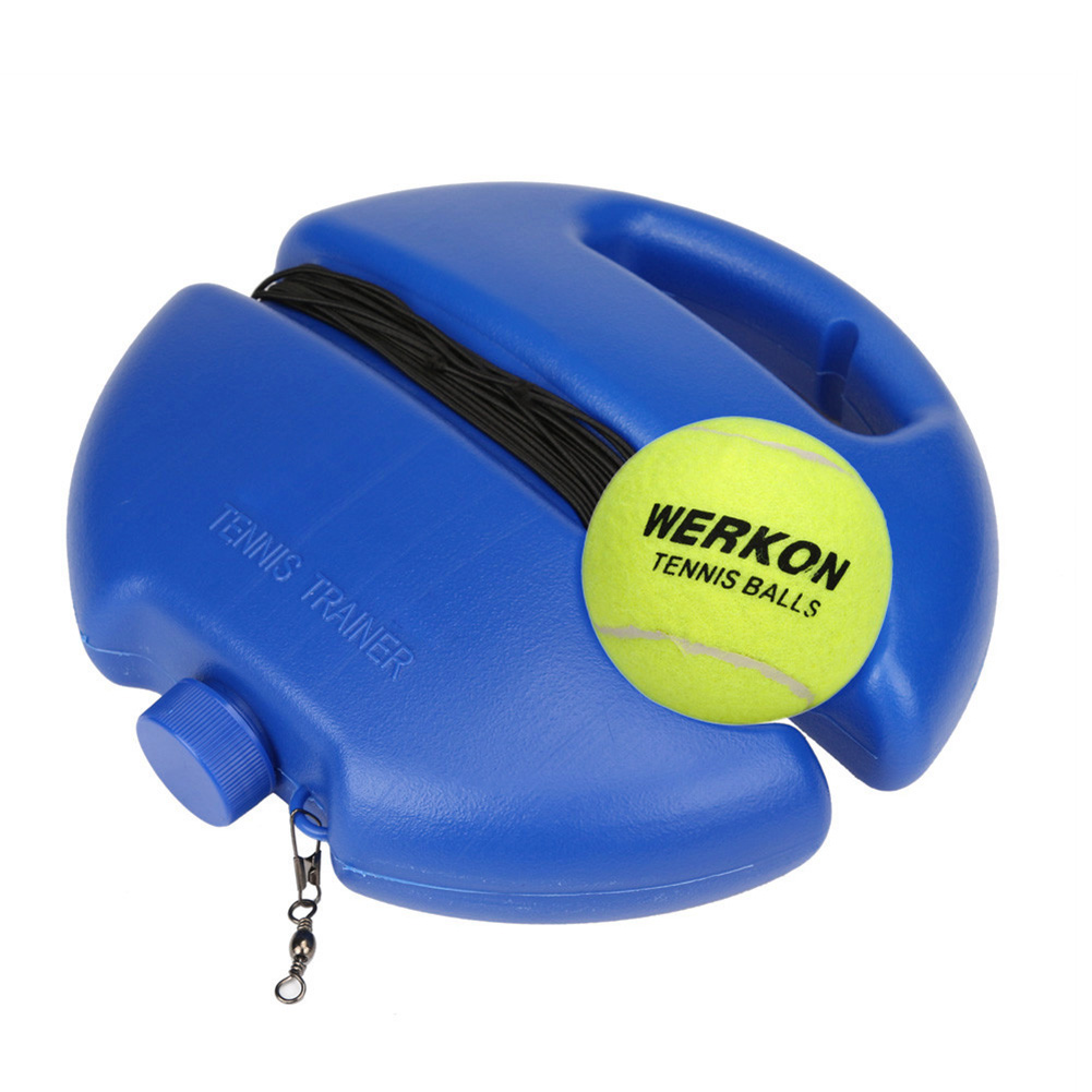Tennis Trainer Base Exerciser With Rope Single Suit Beating Automatic Rebound Rubber Band Line Anti-Wrap