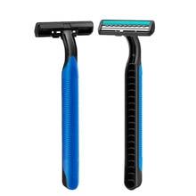 Одноразовый бритва для мужчин пластик ручка портативный нержавеющая сталь бритва лезвие ванные одноразовые бритье лицо уход бритье