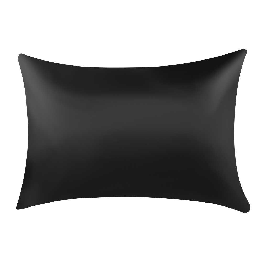 1PC Pure Emulation Satin Silk Pillowcase Square Pillow Single Cover Chair Seat Soft Mulberry Plain Pillow Case Cover