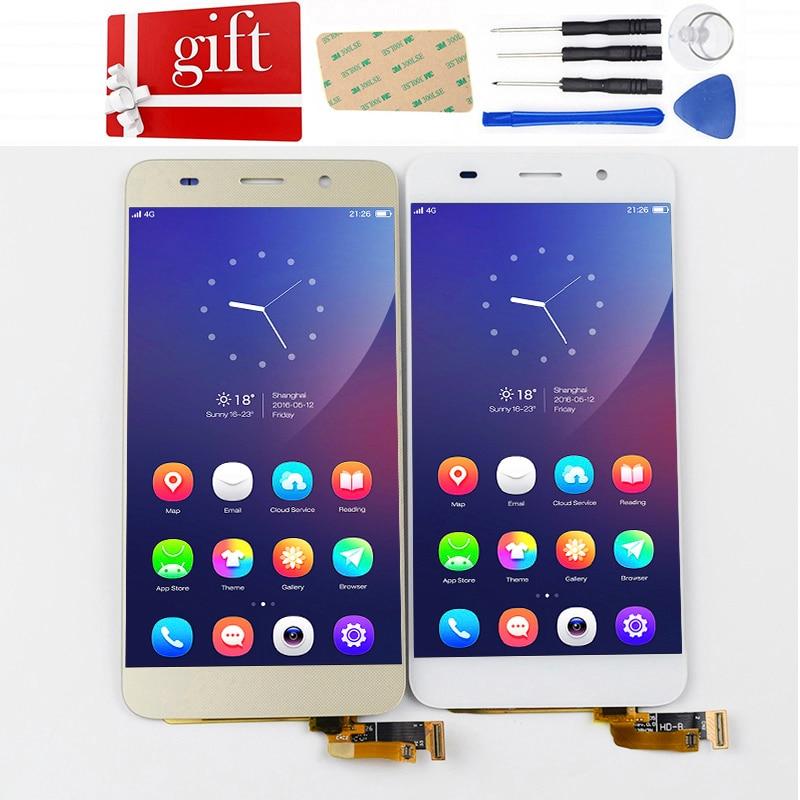 Para Huawei Honor 4A Y6 Tela LCD SCL-L01 SCL-L04 SCL-L21 Display LCD Painel da Tela de Toque Digitador Assembléia de Vidro Com Moldura