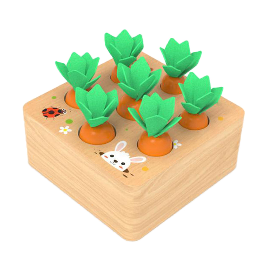 Puzzle Game Carrot Board Game Fine Motor Skill Toy Educational Gift