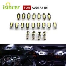 20 sztuk Canbus lampa samochodowa 5630 Premium oświetlenie wnętrza LED dla AUDI A4 B6 Avant z pakietem światła 2000 do 2004 żarówek